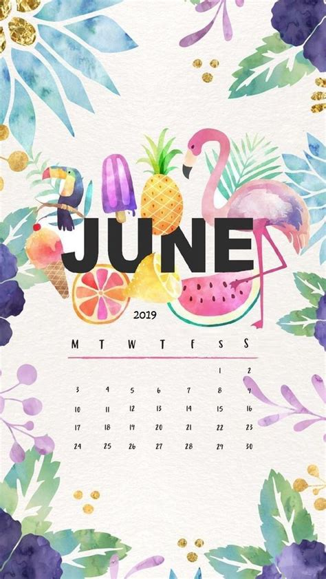 fruits painting june  iphone wallpaper calendar