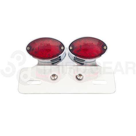red light for cats cat eye twin chrome led tail light red lens max inc