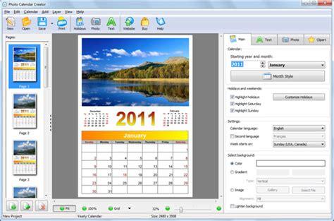 calendar design free software t 233 l 233 charger photo calendar creator t 233 l 233 charge