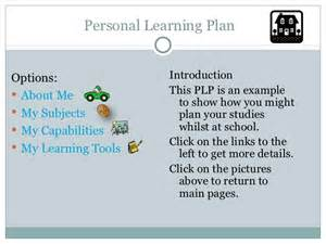 learning plan template personal learning plan template