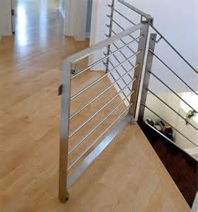 Modern Stair Gate modern stair rails and dog gate for the home pinterest