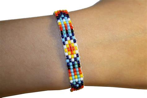 tribal pattern friendship bracelet beaded friendship bracelet loom tribal pattern beaded