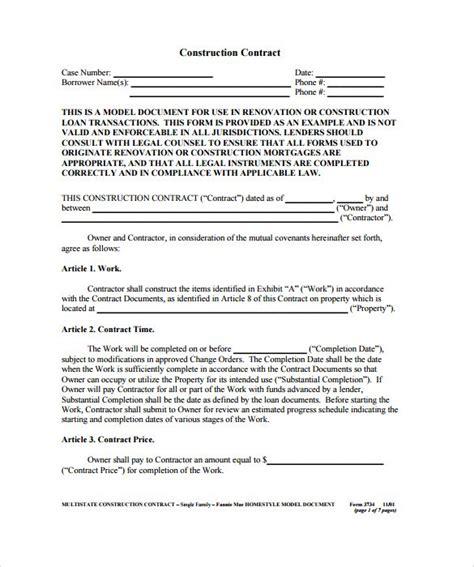 best 25 construction contract ideas on pinterest