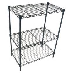 adjustable 3 tier wire shelving black room e target