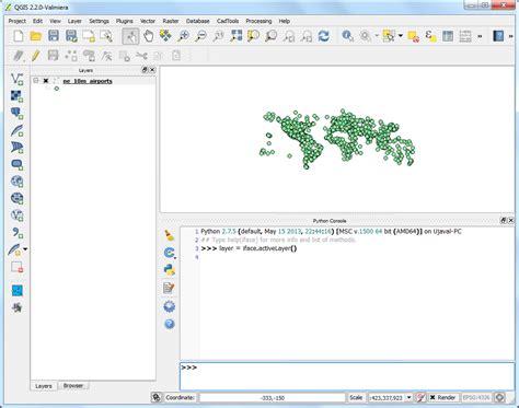 tutorial qgis python primi passi con la programmazione python qgis tutorials