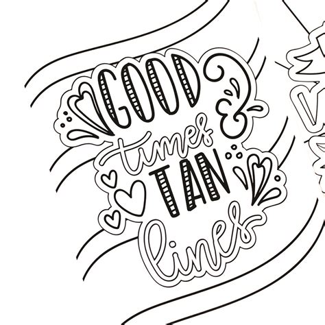 Hand Lettered Summer Coloring Pages Printable Crush Coloring Pages Already Colored