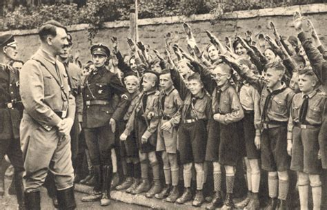 hitler youth biography members of the hitler youth salute hitler 1933