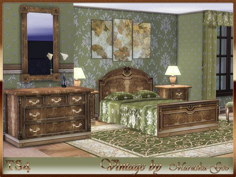 blues set furniture and decor at maruska geo 187 sims 4 updates vintage set by maruska geo at tsr 187 sims 4 updates
