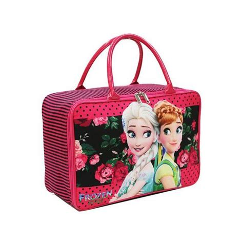 Travel Bag Kanvas Karakter Frozen Black travel bag anak karakter frozen yang cantik bahan kanvas