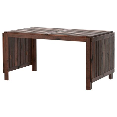 Drop Leaf Table Ikea 196 Pplar 214 Drop Leaf Table Outdoor Brown Stained 140 200 260x78 Cm Ikea