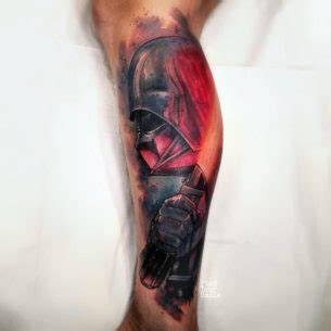 darth vader thigh tattoo geeky tattoos russell van schaick best tattoo ideas gallery