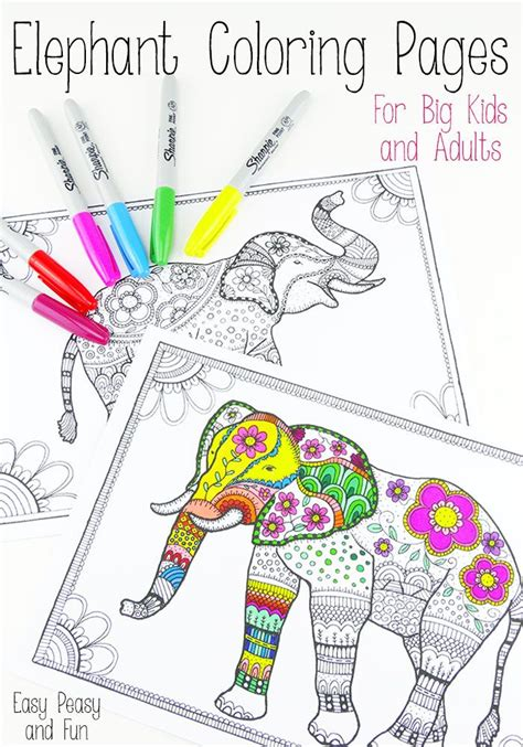 easy peasy coloring pages free elephant coloring pages for adults easy peasy free