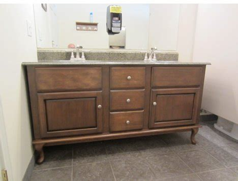 how to install bathroom vanity against wall custom vanity project using queen anne style legs