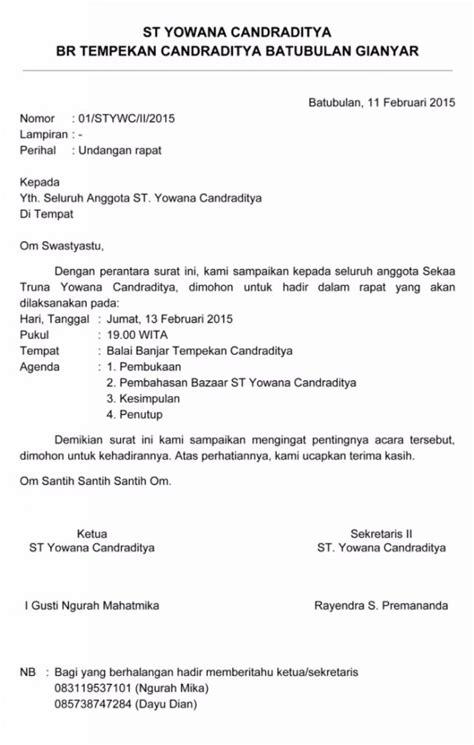 contoh surat undangan rapat profesional dan cara membuatnya