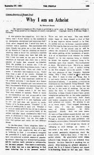 Shahid Bhagat Singh Essay In by Bhagat Singh Study Chaman Lal Why I Am An Atheist 27th September 1931 The Lahore Scanned