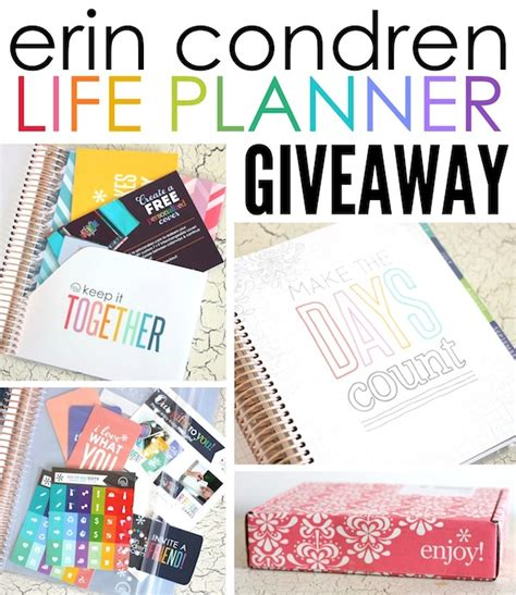 Erin Condren Planner Giveaway - erin condren life planner double giveaway