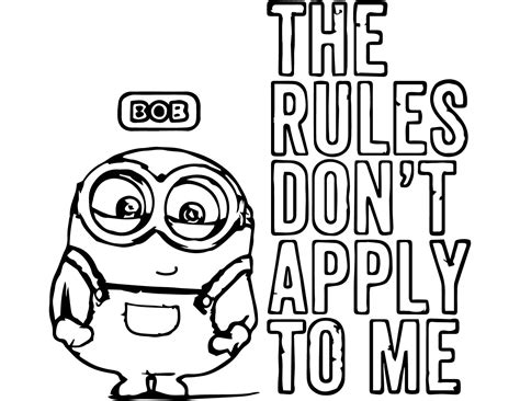 coloring pages minions bob free coloring pages of minion
