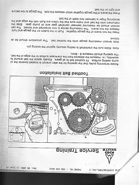 bobcat  bfmf engine    procedures    replace timing belt  valve