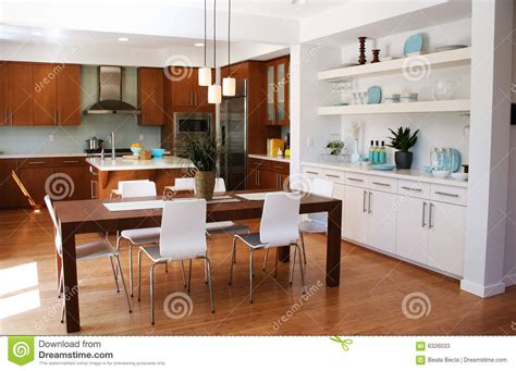 kitchen modern and elegant design of the ann sacks modern sitting room and dining area stock photography