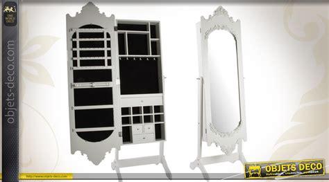 Armoire Miroir A Bijoux by Psych 233 Miroir Baroque Avec Armoire 224 Bijoux Patine Blanc