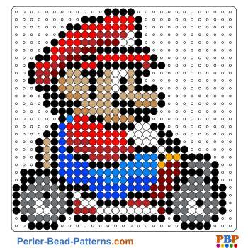 pattern auf website mario kart perler bead pattern and designs bead sprites