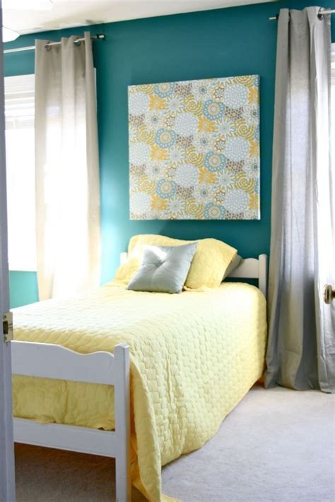 Teal And Grey Bedroom Walls by Best 25 Teal Yellow Grey Ideas On Grey Teal