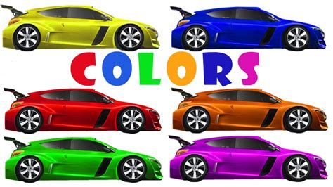 cartoon race car learn colors racing cars educational videos for kids