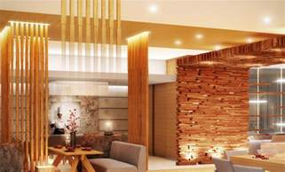 Japanese Style Home Interior Design by Yellow Wooden Japanese Style Restaurant Interior Design