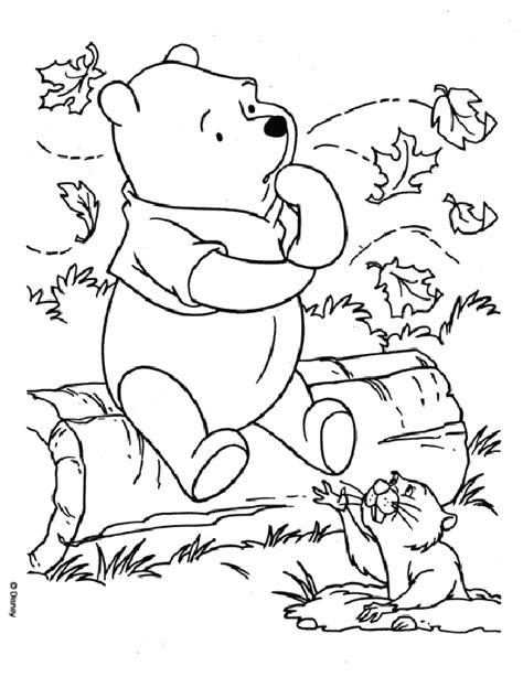 winnie the pooh coloring page autumn 17 dessins de coloriage winnie l ourson b 233 b 233 224 imprimer
