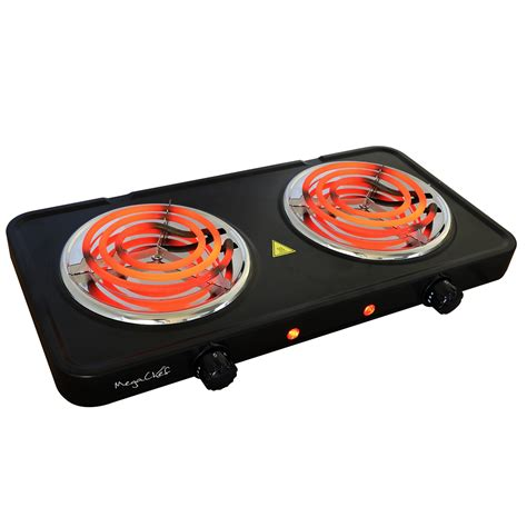 Burner Portable Cooktop by Megachef Electric Easily Portable Ultra Lightweight Dual