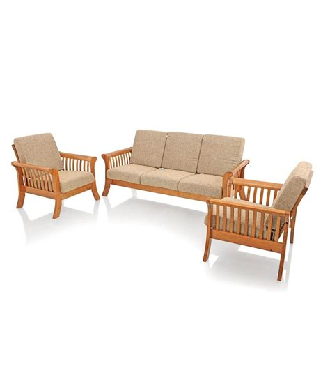 cushion sofa set price royaloak vita sofa set with beige cushions solid wood buy
