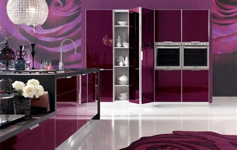 Purple Kitchen Design by Purple Kitchen Ideas Designed In Feminine Style Home
