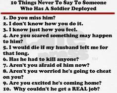 7 Things Never To Say To Someone Whos Dieting by 5 Things Better Left Unsaid During Deployment Homecoming