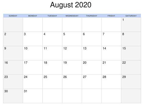 august  calendar nz  zealand  printable