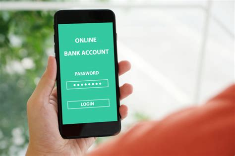 hand  smartphone   bank account password
