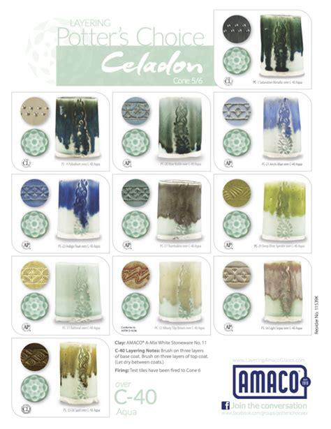 amaco glazes amaco celadon glaze combinations