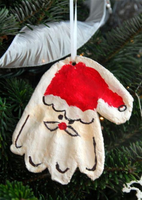 handprint mold santa ornament allfreekidscraftscom