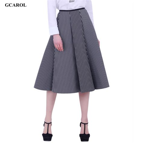 Stripe Skirt Rok Garis new black and white vertical striped skirt space cotton fashion ol gown umbrella