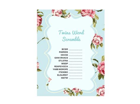 twin themed names 49 best images about baby shower twins printables on pinterest