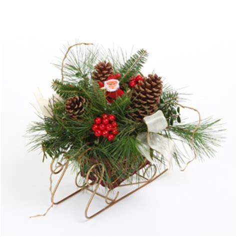 santa s sleigh fresh mountain evergreens holiday centerpiece