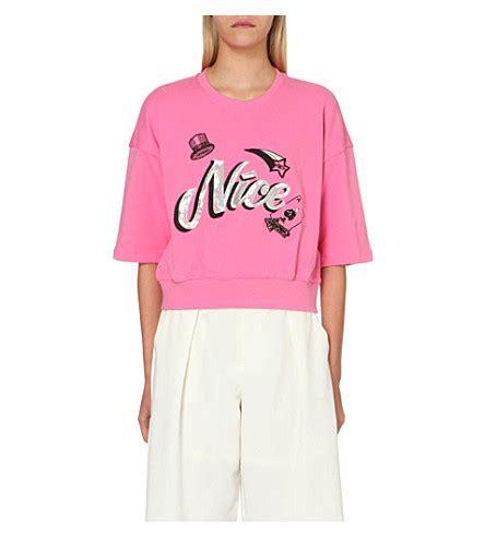 Stelan Blouse Pink Mix Motif Songket mo co motif cotton jersey t shirt selfridges