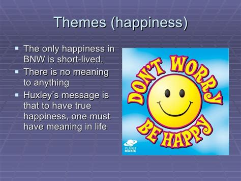 brave new world theme of happiness brave new world