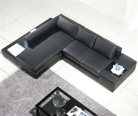 Small Black Leather Sectional Sofa Small Black Leather Sectional Sofa Combined Rectangle Gray Fur Rug Of Splendid L Shaped Leather