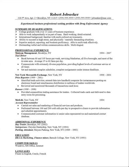 Resume Writing Skills Exle Free Resumes