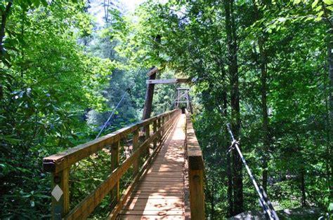 swinging bridge over toccoa river north georgia cabin rentals