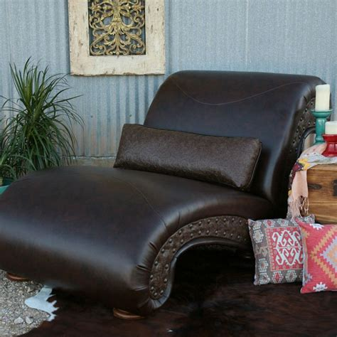 leather double chaise lounge shop dark brown leather double chaise lounge