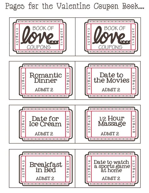 coupon book template for husband by day crafter by free printable