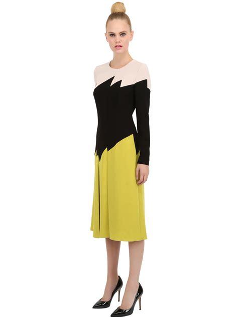Vumeta Dress 1 lyst bottega veneta japanese crepe dress