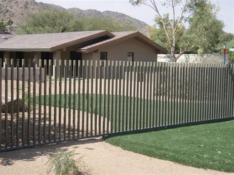 Metal Dining Room Furniture pool fence contemporary exterior phoenix by