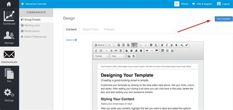 how do i create an email template silkstart